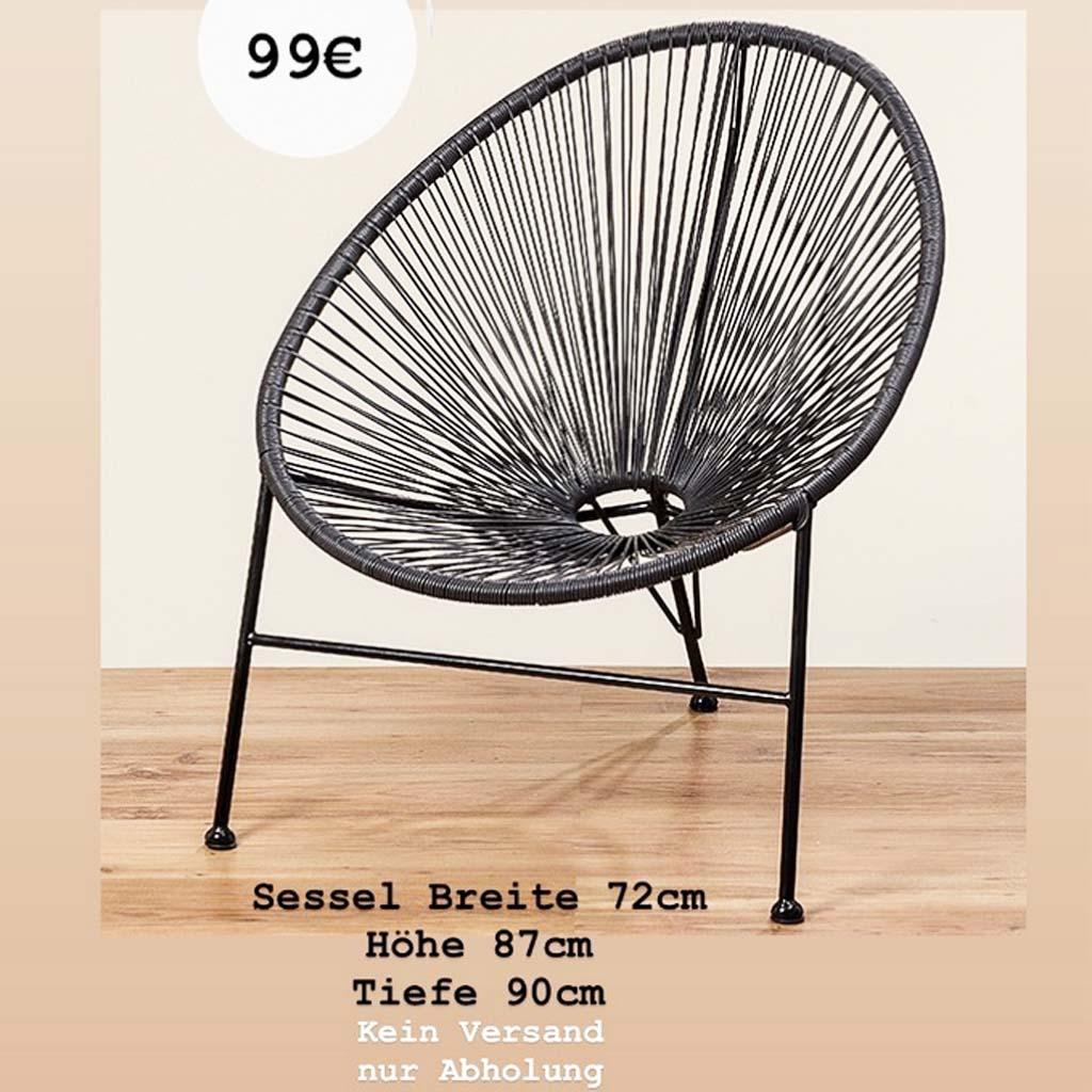 Deco & Design Lounge Sessel schwarz